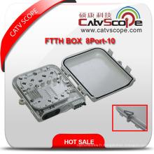 Boîte à bornes optique / boîte de distribution de fibre de haute qualité de FTTH 8p-10