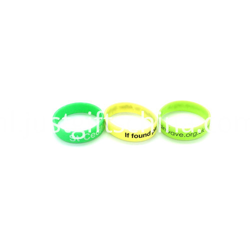 Promotional Glow in Dark Printed Silicone Wristbands1