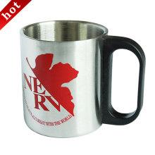 Taza de café acero inoxidable, taza de acero inoxidable de Camping