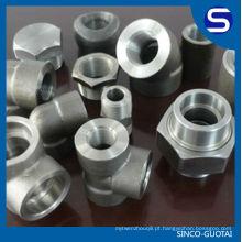 Encaixe de tubulação forjado / cl3000 forjado Encaixes de tubulação a105 / aço inoxidável forjado encaixes de tubulação