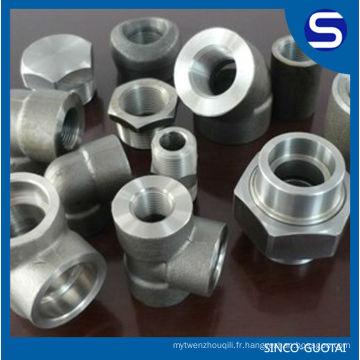 raccord de tuyau forgé / cl3000 forgé a105 raccords de tuyauterie / raccords de tuyaux forgés en acier inoxydable