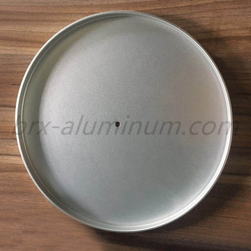 Sandblasting hard anodized heat-proof aluminum alloy tray