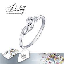 Destino joyería cristal de Swarovski anillo Simple