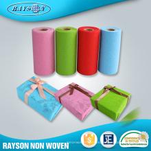 China Regalo que empaqueta el papel de empaquetado de la caja de regalo no tejida