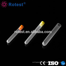 Reagenzglas mit Schaumstoffverpackung mit farbigem Polypropylenschlauch