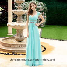 Wholesale Women′s Beautiful Cheap Sexy V-Neck Long Prom Bridesmaid Dresses