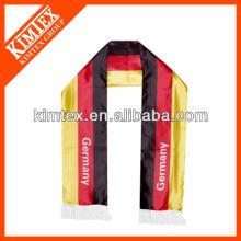 Fashion OEM européen polyester imprimé sur mesure écharpes de football