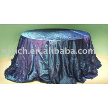 Taffeta pintuck tablecloth, Hotel/banquet table cover, Table Linen