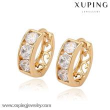 90373 bijoux promotionnels plaqué or à la mode des prix de la dernière conception de boucles d'oreilles pour dames bijoux en or