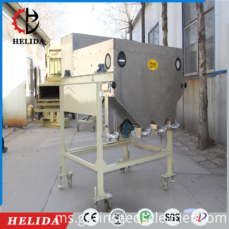 1. 5CX-5II high-performance magnetic election graders is to separate clods from grain. 2. When materials pour in a closed strong magnetic field, they will form a stable parabolic movement. Due to the different strength of attraction of the magnetic field, clods and grains will be separated.