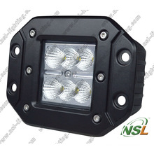 Flush Mount 18W CREE LED Work Light off Road Driving Light