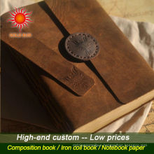 2015 new products leather notebook with 6 ring&custom notebook&cover pu notebook