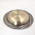 vintage color painted 9inch stainless steel soup and sandwich charger plate