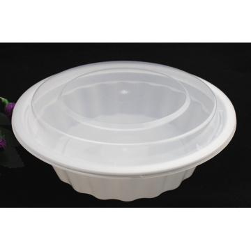 Plastik-Microwavable Wegwerf-runder Nahrungsmittelbehälter 2500ml pp. Mit Deckel / Abdeckung
