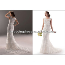 2014 estilo mais novo Saree projeta vestido de noiva
