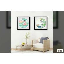 Vários porta-retrato de colagem com moldagem de quadro PS