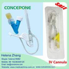Catéter de cánula intravenosa desechable con tipo Y, cánula de seguridad intravenosa