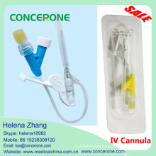 Disposable IV Cannula Catheter with Y Type, Safety IV Cannula