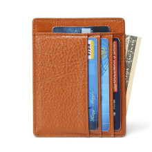 Rfid Blocking Leather Credit Card Holder Bag