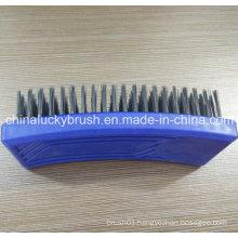 Steel Wire Square Plastic Blue Colour Board Brush (YY-505)