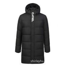Medium and long casual neutral warm down jacket