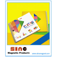Enigma Tangram magnético 72 Desafios Educacionais Toy Game para Crianças