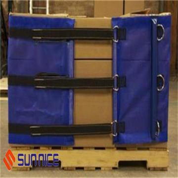 Pallet Shrink Wrap with Corner Straps