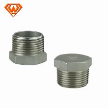 Dimensões dos encaixes de tubulação de aço do tampão de aço inoxidável