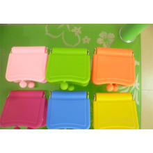 Candy Color Silicone Mini Make up Mirror Bag with Customized Logo