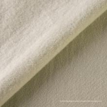 Tissu 100% coton éponge teint uni polaire