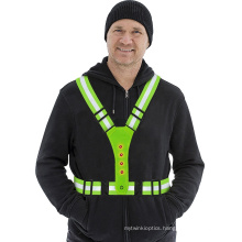 3 Modes of Light Battery Replaceable Reflective LED Safety Vest for Cycling Motorcycle