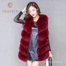 Conciso diseño comprar en línea real chaleco de piel traje de vestir