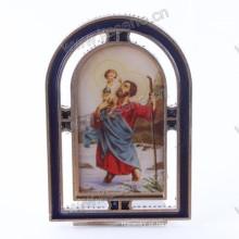 Religioso liga de zinco gualalupe moldura, liga de zinco catholic saint frame
