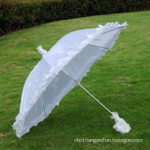 2017 New fashion lace beach bridal party wedding lace umbrella