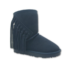 High quality Fringe leather winter kids boots