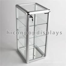 Simple Table Top Lockable Accesorios Pequeños Tienda Merchandising 4-Tier Glass Unidades de exhibición en venta