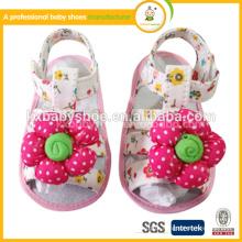 Sol de borracha doce novo desigh sapatos de verão para bebês