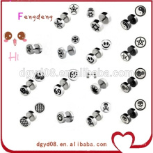 Stainless steel body piercing jewelry custom designs stud earring with logo