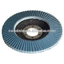 Disque à lamelles d'alumine de zircone pour l'acier. Acier inoxydable (INOX), disque à lamelles flexible fait en porcelaine