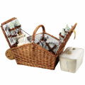 Side Folable Picnic Rattan Basket