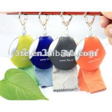 Heißer Verkaufs-Mikrofaser-Reinigungstuch mit schöner Schlüsselkette