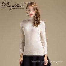 Produtos mais vendidos Camisola de malha de malha simples personalizada Camisola de lã de cashmere de lã Mulheres