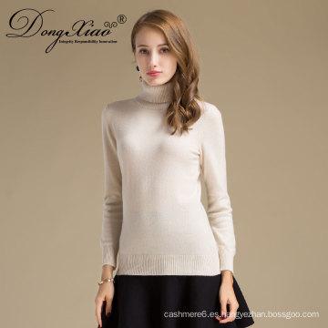 La mayoría de los productos vendedores personalizados de punto liso suéter de lana de cachemira de moda suéter mujeres