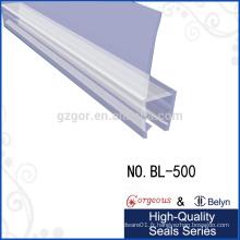 Joint de porte en plastique transparent pour 90 degrés