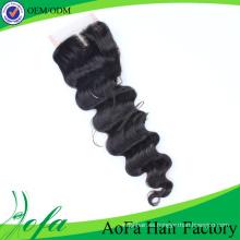 Cierre del cordón del pelo humano de Remy del pelo de la Virgen del visón del 100% sin procesar