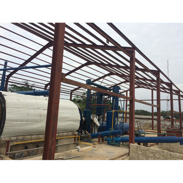 2018 Fully continuous 30T/D waste plastic pyrolysis to diesel machine for sale