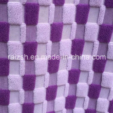 Weft Grid Cation Jacquard Pv Fleece Fabric For Sofa / Sleepers