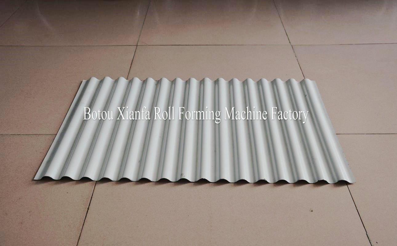 corrugated roof panel machine