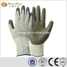 Sunnyhope 13 калибра HPPE с защищенными PU покрытием перчатками