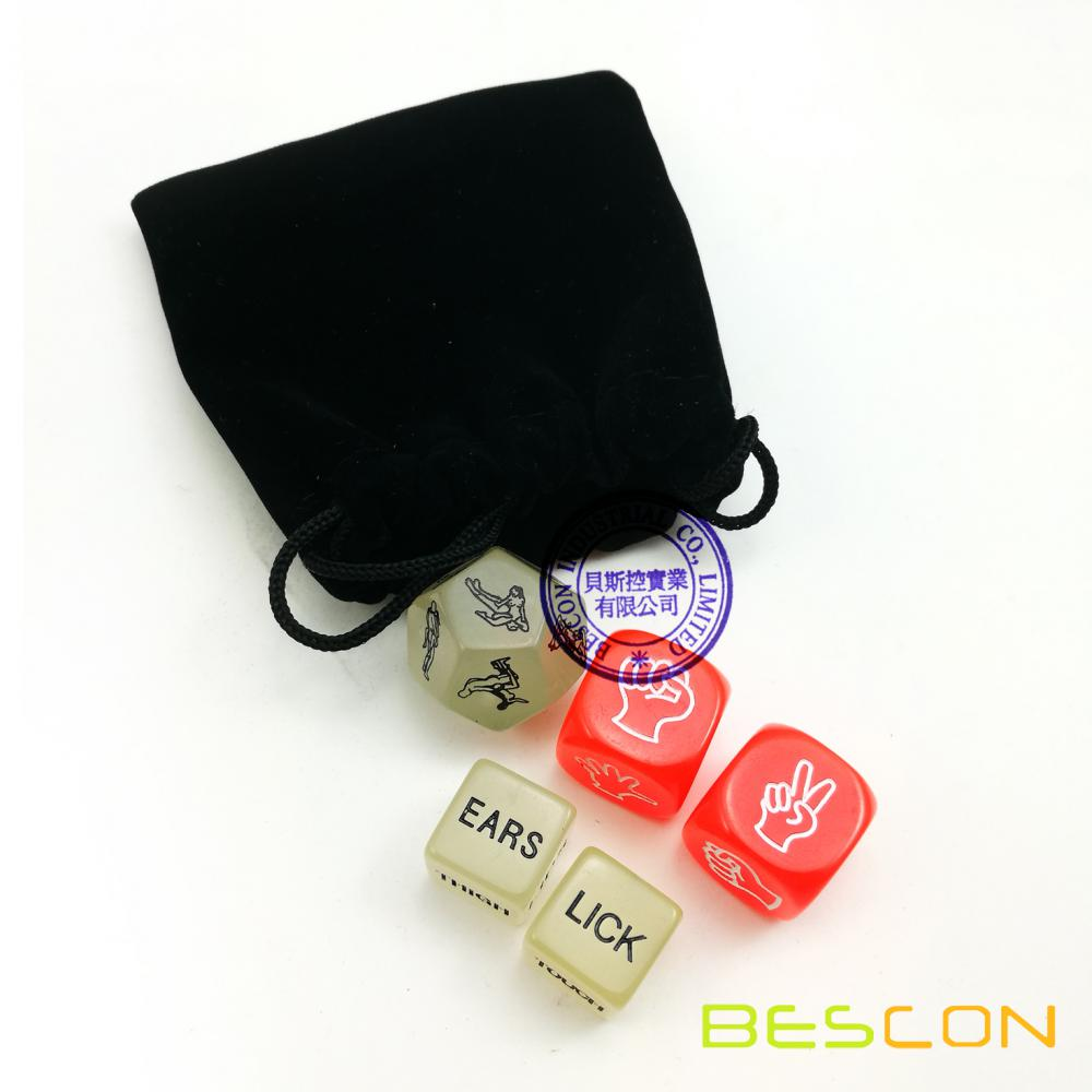 Love Dice Lover Sex Position Luminous Dice Set for Adult Couples Dirty Dice Game Adult Fun Toy Sex Games